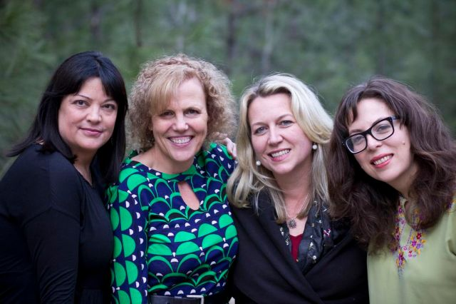 Theo with Wild Mountain Memoir Retreat Faculty: Suzanne Finnamore, Theo Pauline Nestor, Cheryl Strayed, Candace Walsh