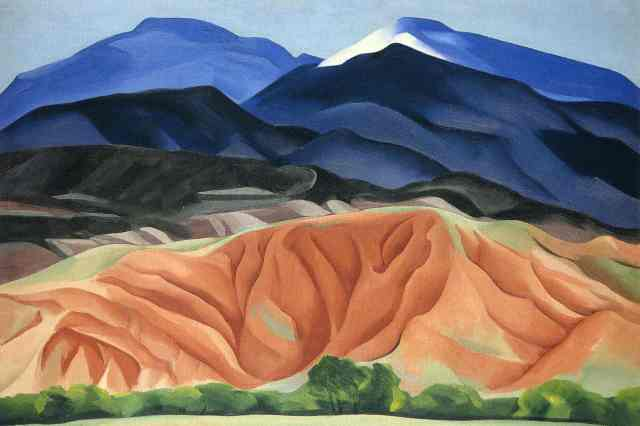 Georgia O'Keeffe, Black Mesa Landscape, New Mexico / Out Back of Marie's II, 1930. Oil on canvas mounted to board, 24 1/4 x 36 1/4 (61.6 x 92.1) Georgia O'Keeffe Museum. Gift of The Burnett Foundation (1997.06.015) © Georgia