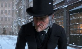 Actor Jim Carrey as Ebenezer Scrooge